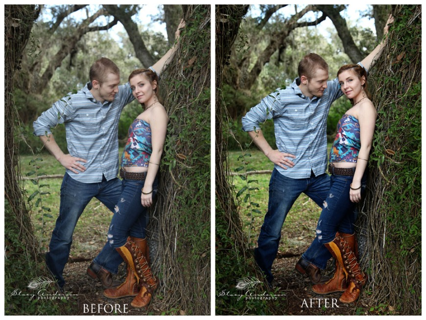 editing before and after